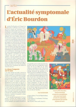 Arts : The symptomal presentness of Eric Bourdon - Éléments