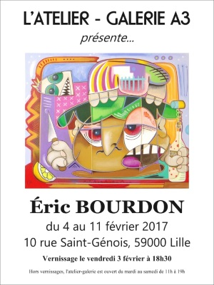 exposition eric bourdon studio gallery A3 lille