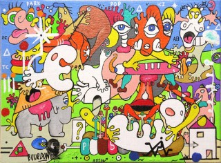 Pop Park - Painting by Eric Bourdon