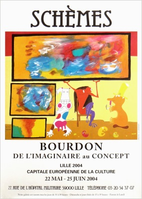 poster exhibition galerie schemes 2004 eric bourdon