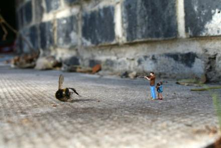 Slinkachu little people miniatures