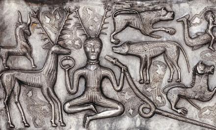 Silver Gundestrup cauldron Denmark
