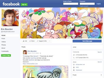 Facebook page Eric Bourdon