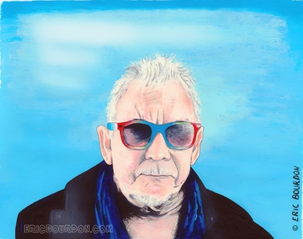 eric burdon watercolor painting portrait by eric bourdon