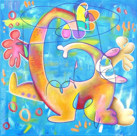 burnout expressionism painting artwork by eric bourdon