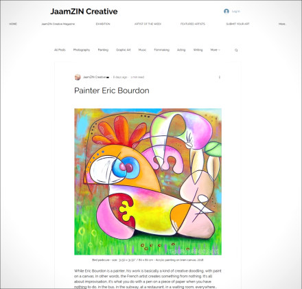 Painter Eric Bourdon on JaamZIN Creative in Singapore !
